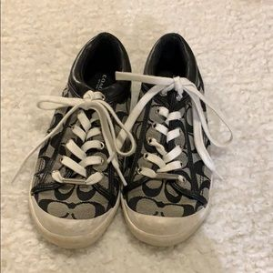 Black Coach Sneakers, Size 8